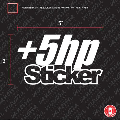 2x 5 HP STICKER funny vinyl decal jdm
