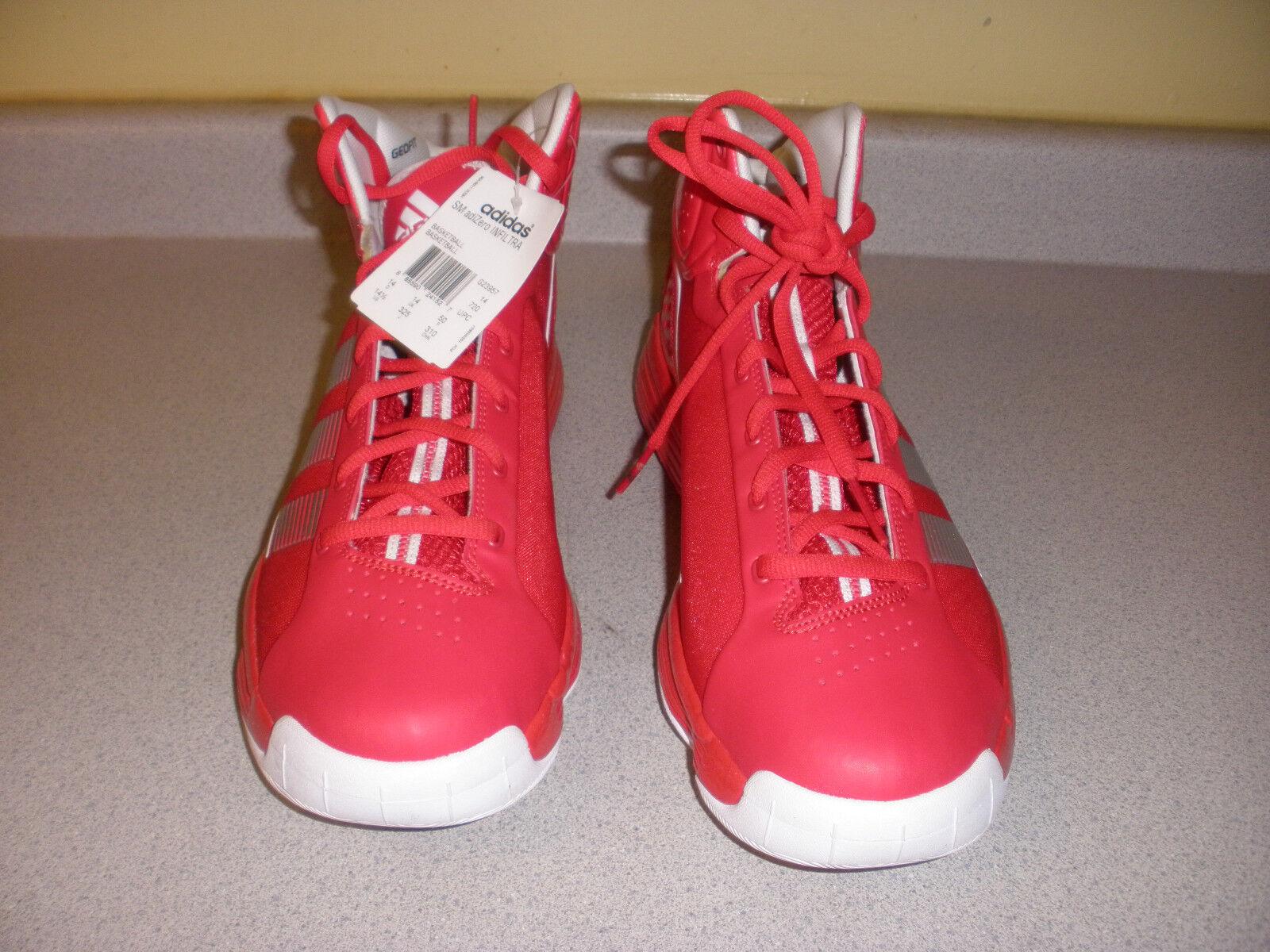 Nwt Nwt Nwt g23957 adidas adizero infiltra scarpe da basket dimensioni 14,5 rosso 1f17dc