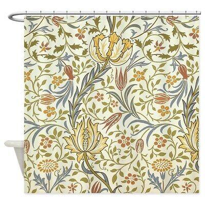 871631878 CafePress William Morris Floral Design Shower Curtain