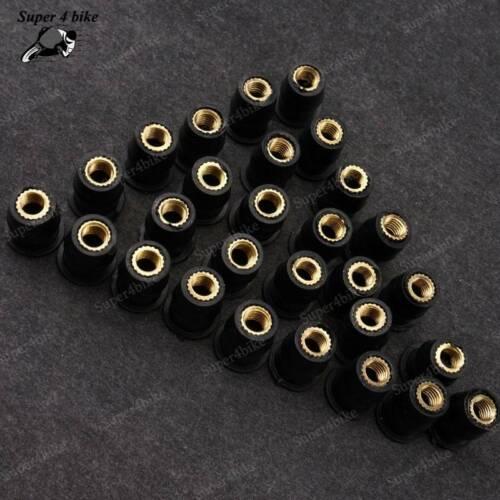 Rubber Well Nuts Motor Fastener Windscreen For Suzuki GSXR600 GSXR1000 GSXR1300