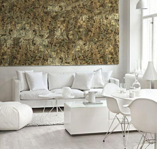 "Natural Virgin Cork Wall Feature Tile Sample 600x300mm  23.6/"" x 11.8/"""
