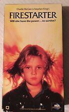 STEPHEN KING'S , FIRESTARTER, DREW BARRY MOORE, DAVID KEITH, VHS 1984/92 UNIVERS