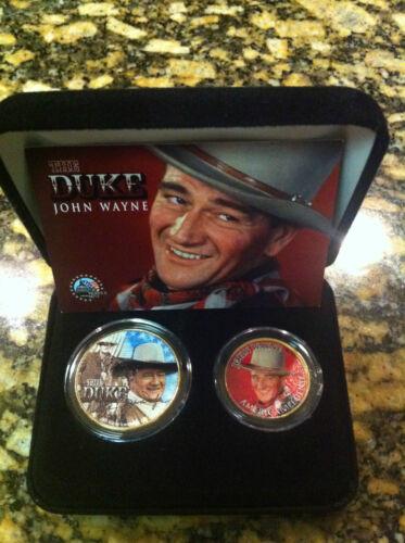 JFK HALF DOLLAR /& IOWA STATEHOOD QUARTER /& $2 BILL!! JOHN WAYNE 24KT GOLD U.S