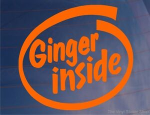 GINGER-INSIDE-Orange-Funny-Joke-Car-Van-Bike-Bumper-Window-Vinyl-Decal-Sticker