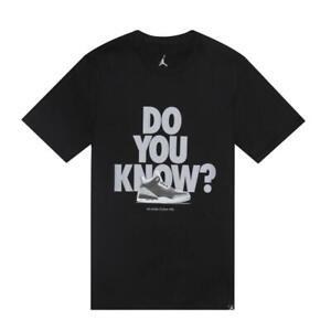 5b9be3a1dae8 Nike Men s Air Jordan AJ 3 CNXN DO YOU KNOW  Tee Black 943936-010 c ...
