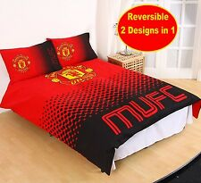NEW MANCHESTER UNITED FADE DOUBLE DUVET QUILT COVER SET FOOTBALL BOYS KIDS BED