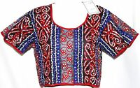 S M Tribal Belly Dance Dancing Gypsy Hippie Embroidered Genie Choli Peasant Top