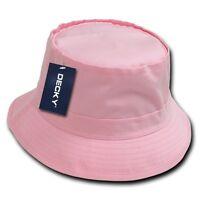 Pink Fisherman's Fishing Sun Bucket Safari Hiking Boonie Cap Hat Caps Hats S/m