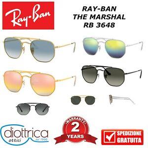 RAYBAN-RB-3648-THE-MARSHAL-OCCHIALE-DA-SOLE-OCCHIALI-UOMO-DONNA-SPECCHIO-POLAR