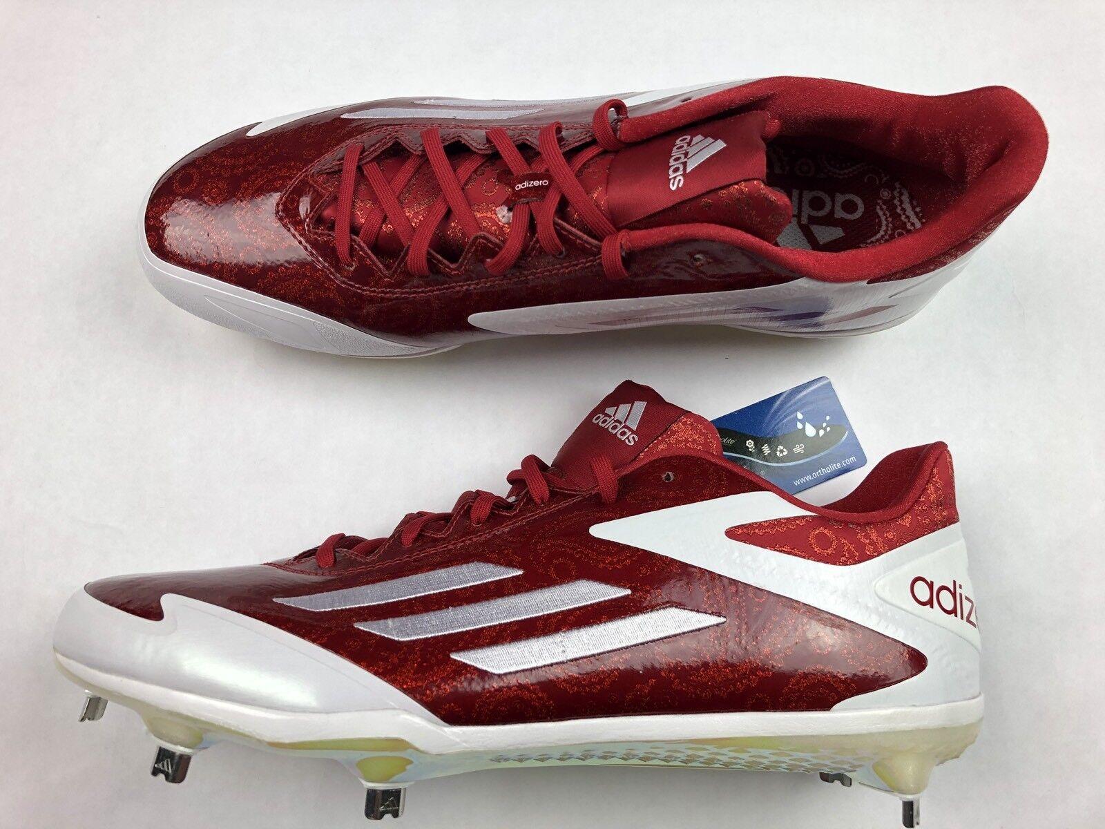 Nuove adidas adizero b39047 postbruciatore scarpe da baseball b39047 adizero padri giorno red paisley 13 2c8a82