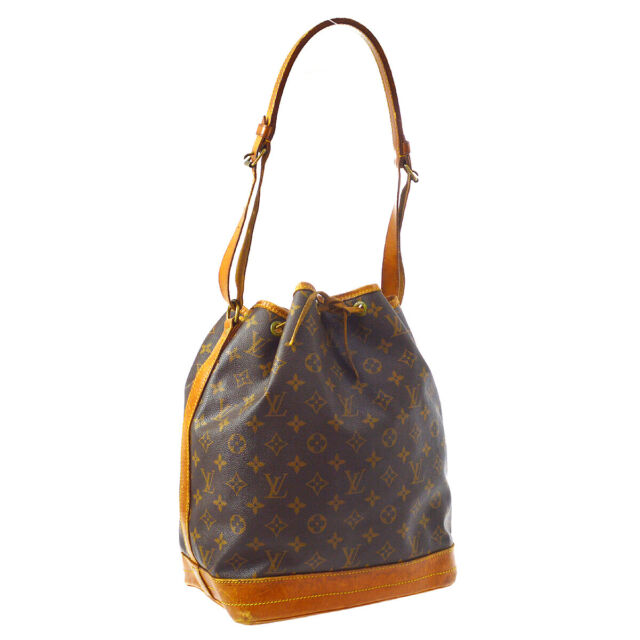 LOUIS VUITTON NOE DRAWSTRING SHOULDER BAG PURSE MONOGRAM M42224 A53026