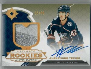 ALEXANDRE-TEXIER-2019-20-Upper-Deck-Ultimate-Collection-RC-PATCH-AUTO-35-of-99