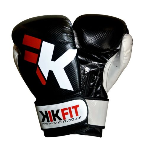 KIKFIT Boxing Gloves Maya Leather MMA Punch Bag Sparring Training Muay Thai UFC