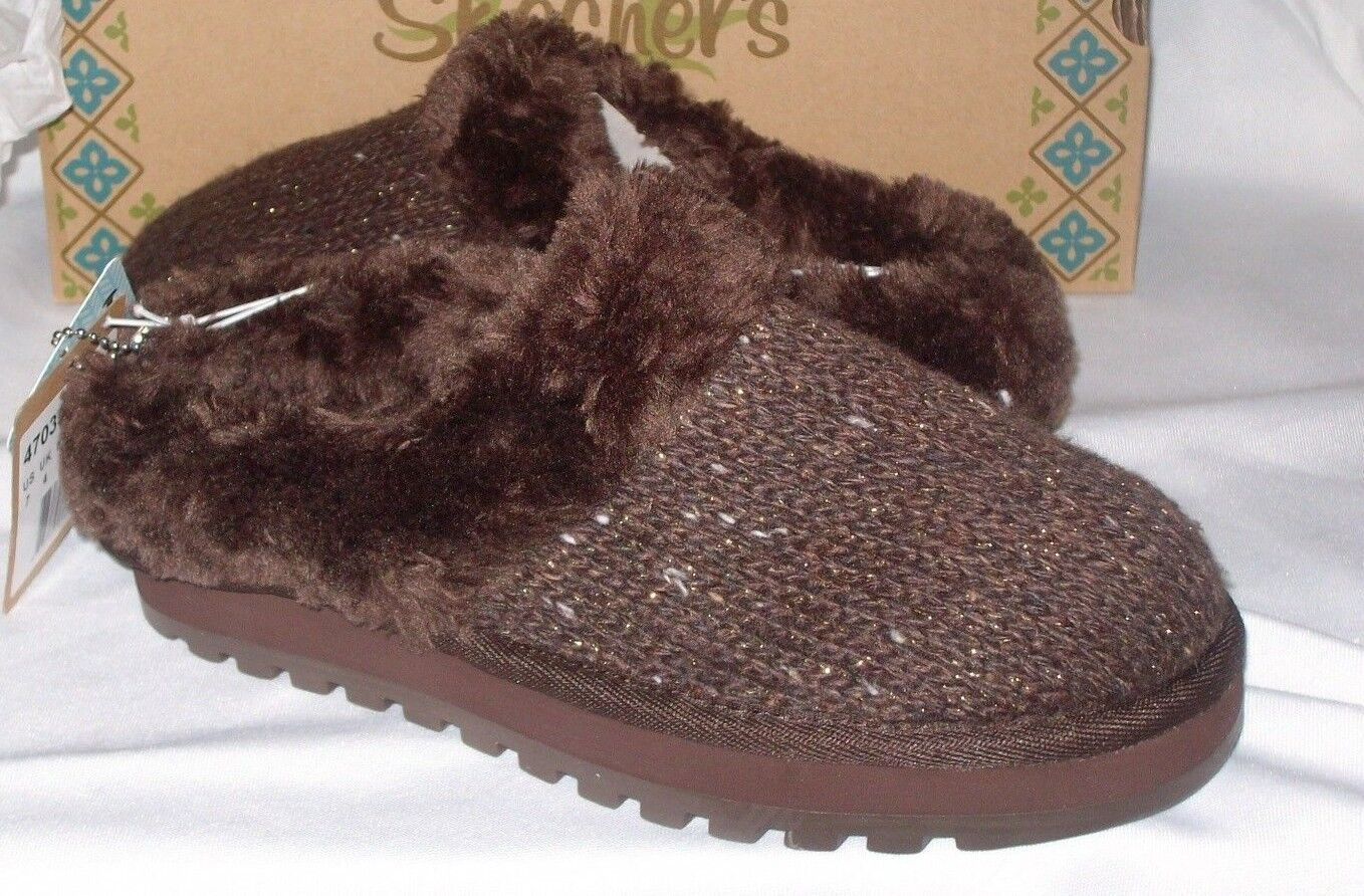 Skechers Skechers Skechers Size 7 Chocolate Brown Slides New Womens Shoes a2fa79