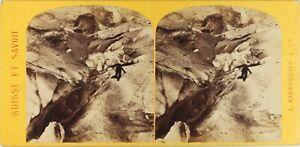 Francia Suisse Savoia, Foto A.Varroquier Stereo Vintage Albumina Ca 1870