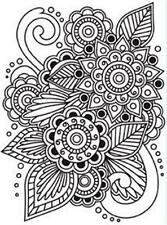 4.25 x 5.75 Darice Embossing Folder HENNA Floral Image Card Making 1218-28
