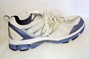 New-Balance-Womens-Shoes-Size-8-5-White-Blue-Silver-Lace-Up