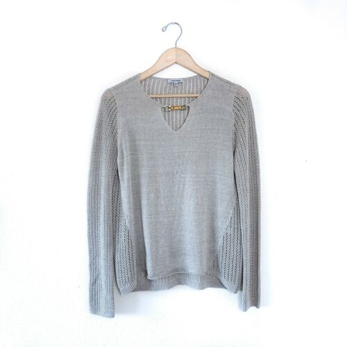 Lisa Todd Linen Knit Pullover Sweater Large