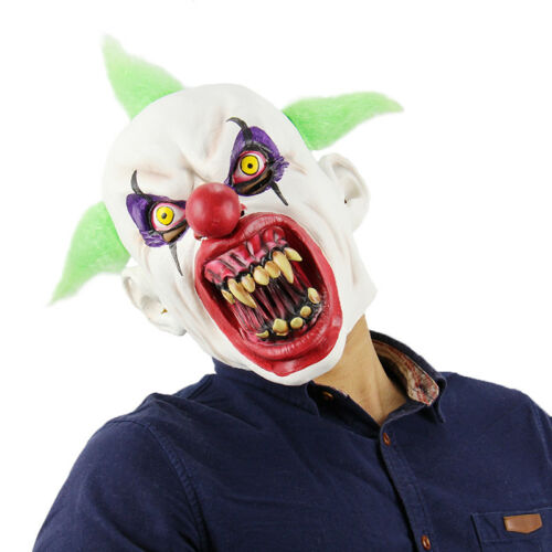 Costumes Fancy Dress Cosplay Adult Scary Latex Horror Clown Mask Halloween Party