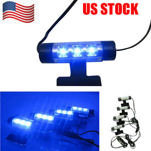 4x-3LED-Car-Charge-12V-Glow-Interior-Decorative-4in1-Atmosphere-Blue-Light-Lamp