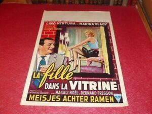 Cinema Plakat Eo Belgischer La Mädchen Dans La Vitrine Lino Ventura Marina Vlady