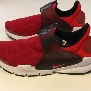 sale retailer aad68 4707e Details about New Nike Sock Dart Gym Red/Solar Red/Siren Red Grade School  Sizes 904276-601