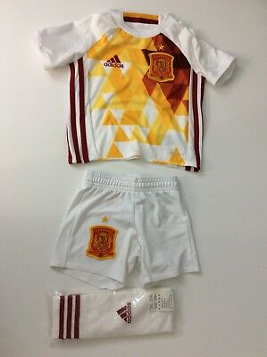Adidas Infant Spain Goal Keeper Home Kit 2014 18-24 Months Size