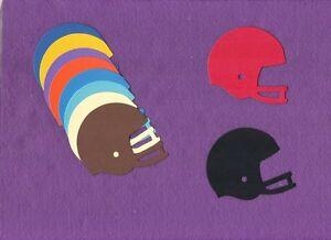 FOOTBALL-HELMET-die-cuts-scrapbook-cards