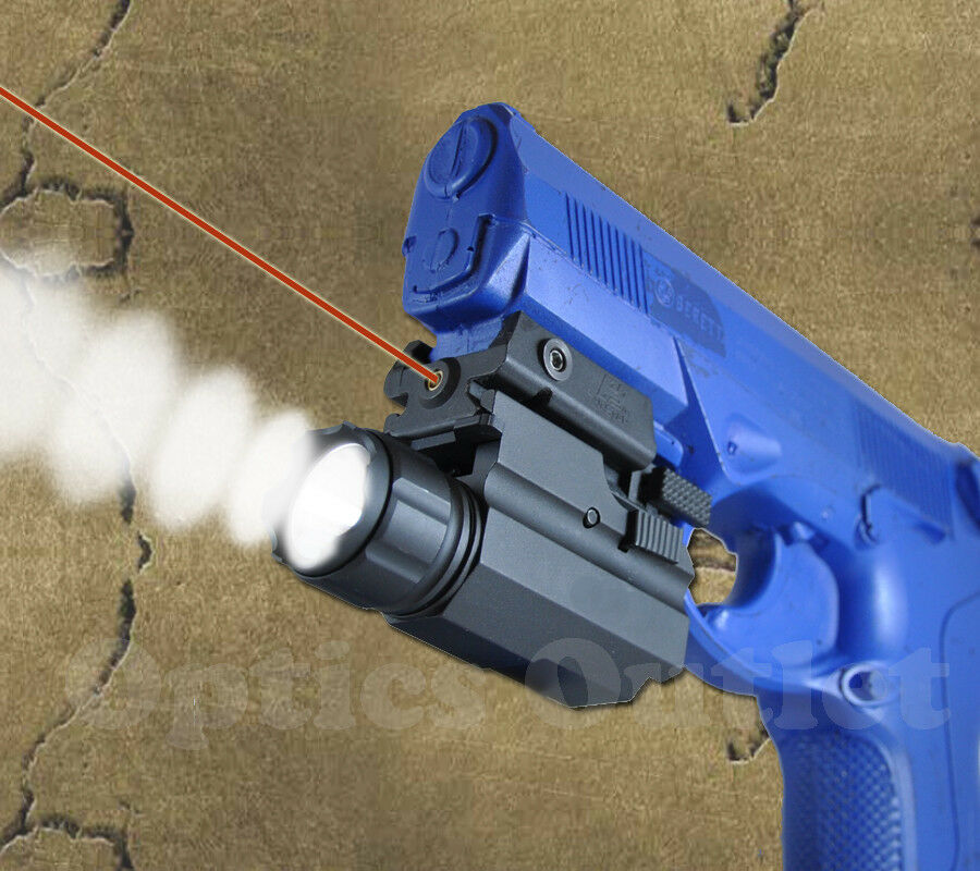 Pistola Linterna Táctica Mira Láser Combo-Springfield Beretta Ruger Taurus