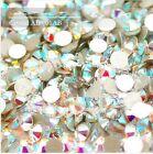 Wholesale 5Bag=7200pc SS3-SS20 Crystal AB/Clear AB Flatback Rhinestone Nail Art