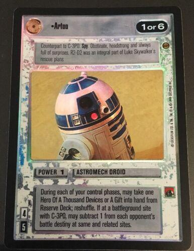 Star Wars CCG Reflections I VRF Very Rare Foil Artoo