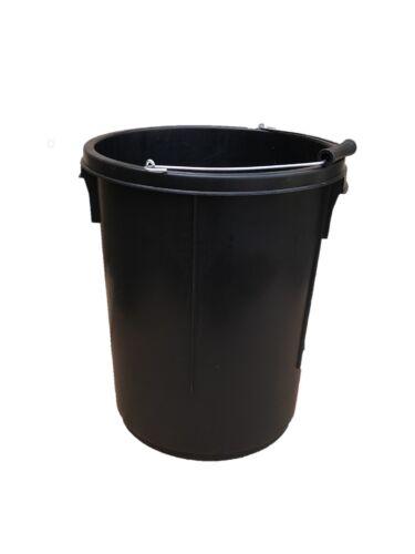 25L BLACK PLASTERERS PLASTER BUCKET 5 GALLON WITH MEASUREMENTS 25 LITRES