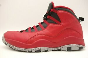 info for 146b3 ca58d Details about Air Jordan Retro 10 Bulls Over Broadway Red Black Basketball  Shoes Mens 12