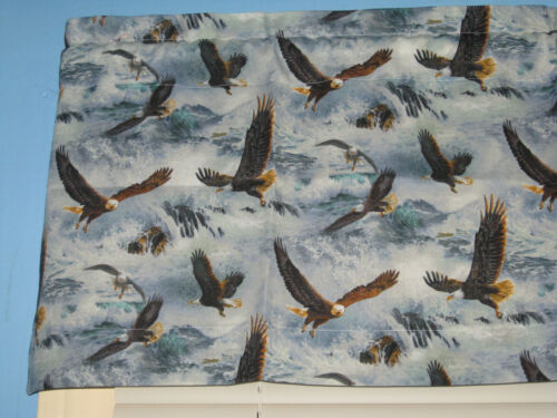 100/% Cotton Handmade AMERICAN Eagles Window Valance