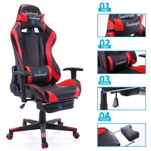 Marvelous Details About New High Back Racing Car Style Bucket Seat Office Desk Chair Gaming Chair Frankydiablos Diy Chair Ideas Frankydiabloscom