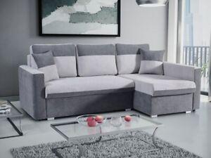 Right Corner Sofa Bed 4 Seater Fabric