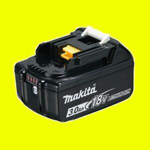Makita Original Ersatz Akku 18 Volt 3,0 Ah BL1830B 197599-5  Lithium Ionen Akku