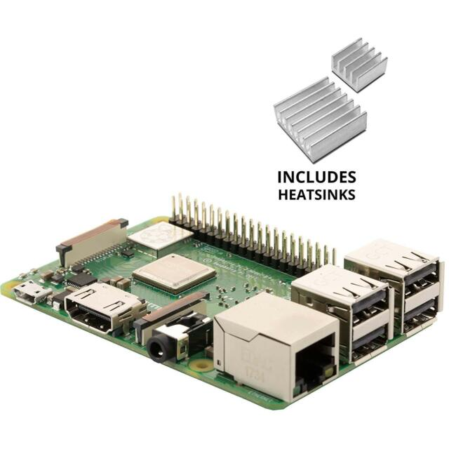 Vilros Raspberry Pi 3 Model B with Clear Transparent Case and Set of 2 Heatsinks