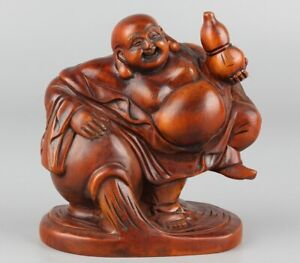 Chinese-Exquisite-Hand-carved-Buddha-Carving-Boxwood-statue
