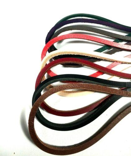 PAIR Strong LEATHER BOOT SHOE LACES 3mm Square lace lacing Shoelace RATS BUM