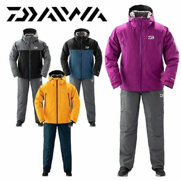 DAIWA Gore-Tex Product Fishing Winter Suit DW-1909 lila Jacket Pants Japan EMS