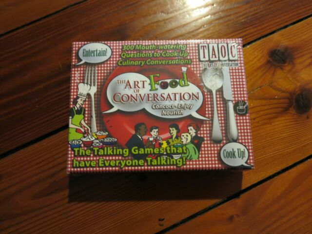 THE ART OF CONVERSATION: FOOD Fun Card Game Mouthwatering Culinary Talking Game