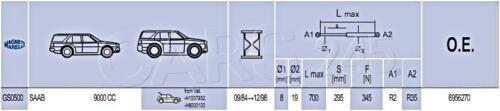 84-1998 Saab 9000 CC Trunk tailgate lift support damper shock STRUT PROP x2 SET
