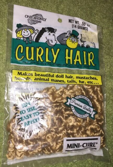 Animal Hair Mini Curl Strawberry Blonde Doll Hair