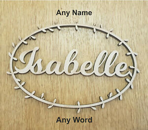 ANY-NAME-WORD-Personalised-Wooden-Wedding-Place-Name-Laurel-Design-Favours
