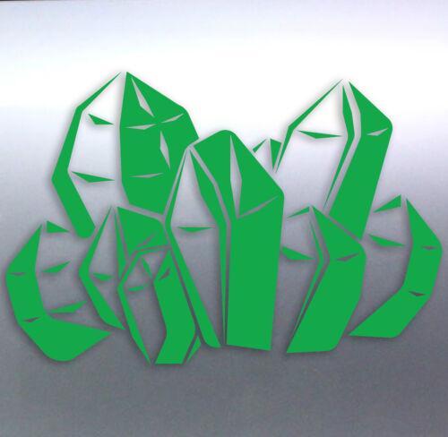 Crystal Sticker Vinyl Cut Edges Shards with points Ruby diamonds quart Jewellery