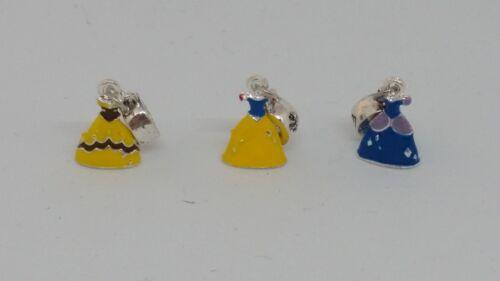 Charm Prinzessinnen Kleid Belle oder Cinderella Anhänger Bettelarmband Kette