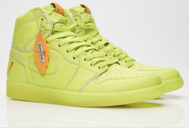 fb230fa60596bc RARE Nike Air Jordan 1 Retro High OG Gatorade Lemon Lime