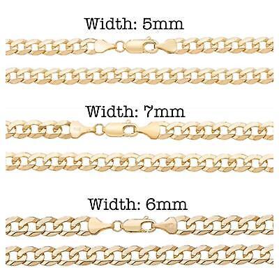 Aktiv Solid 9ct Yellow Gold Flat Wire Curb Chain Necklaces Various Lengths Hallmarked BerüHmt FüR Hochwertige Rohstoffe, Umfassende Spezifikationen Und GrößEn Sowie GroßE Auswahl An Designs Und Farben