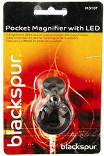 POCKET Loupe Eye Glass ingrandimento lente di ingrandimento 10x Zoom Eye Piece + LED Light + BATT